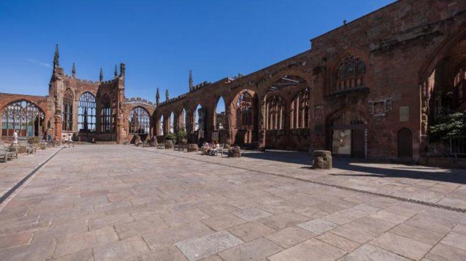 Die Ruine der Kathedrale von Coventry
