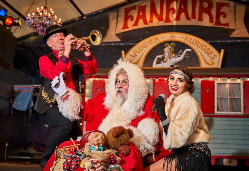 Künstler beim Weihnachtsmarkt Festung Königstein, Foto: Marko Förster