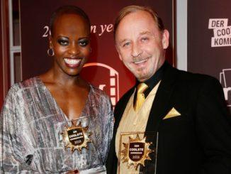 Strahlende Sieger: Florence Kasumba und Alexander Held