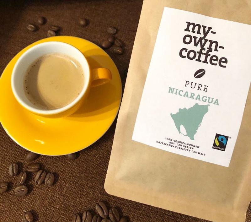 Bio Fairtrade Nicaragua Kaffeebohnen von my-own-coffee