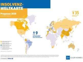 In vier von fünf Ländern für 2020 mehr Pleiten erwartet
