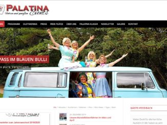 Screenshot Website Palatina events