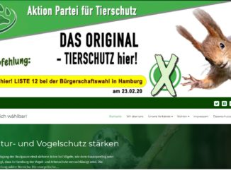 Screenshot Website Tierschutz hier !