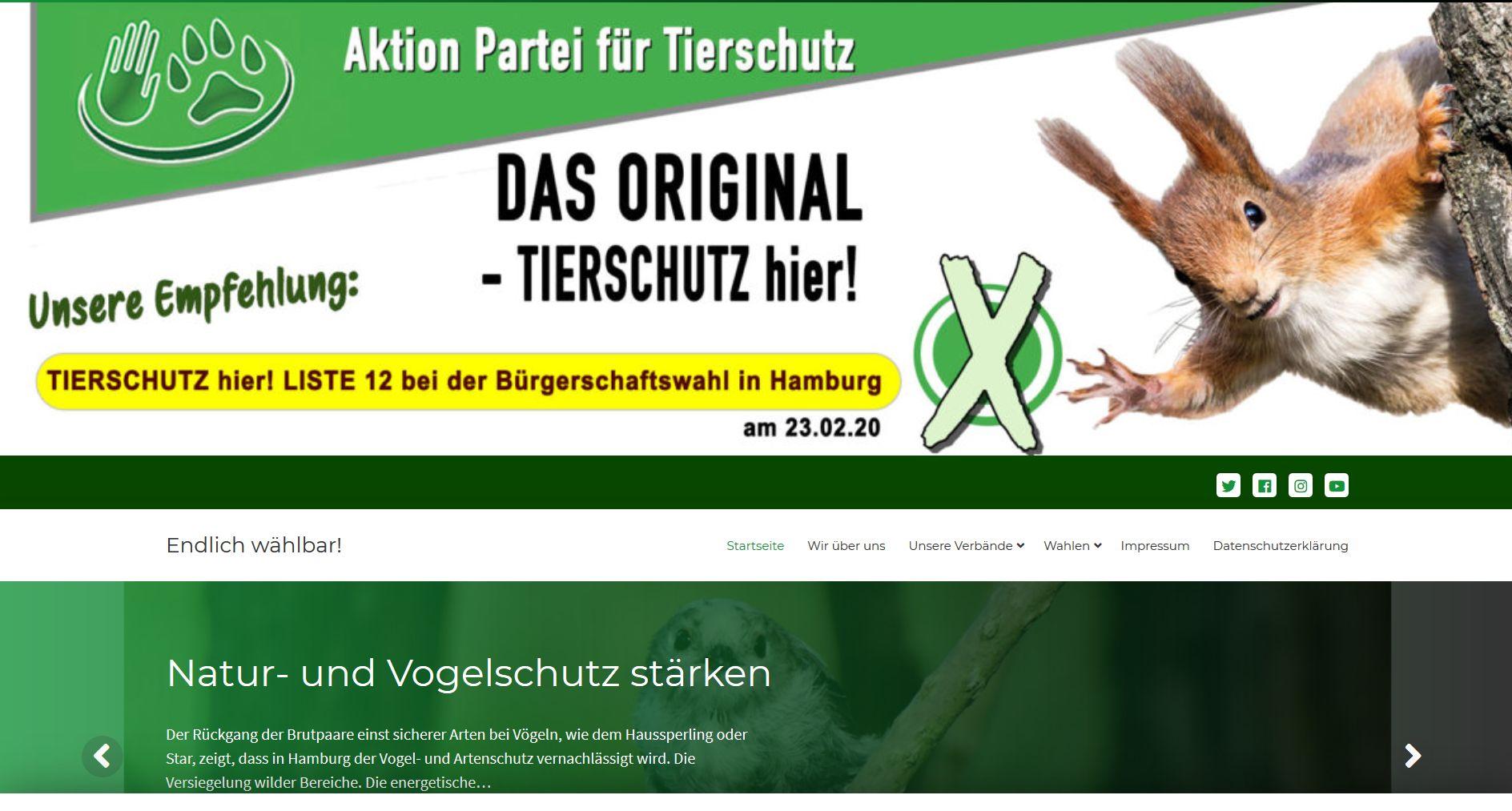 Screenshot Website Tierschutz hier !