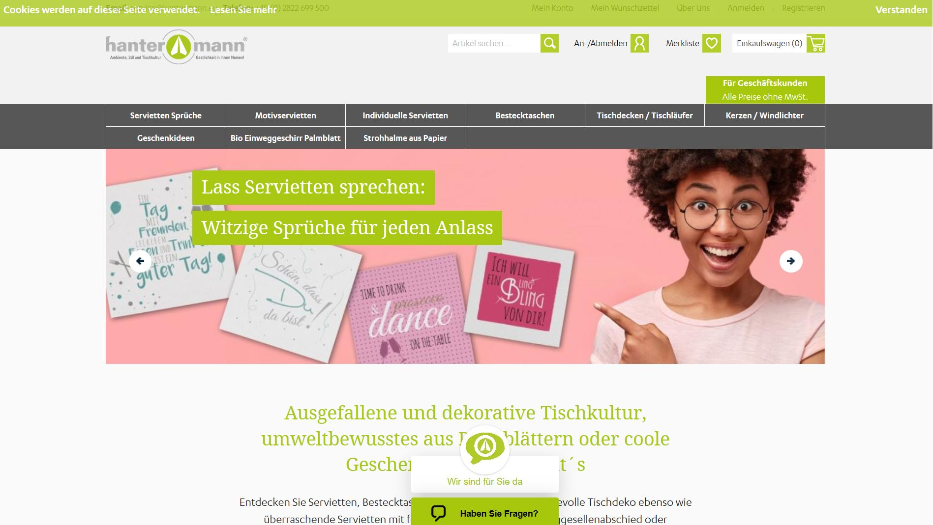 Screenshot Website handermann