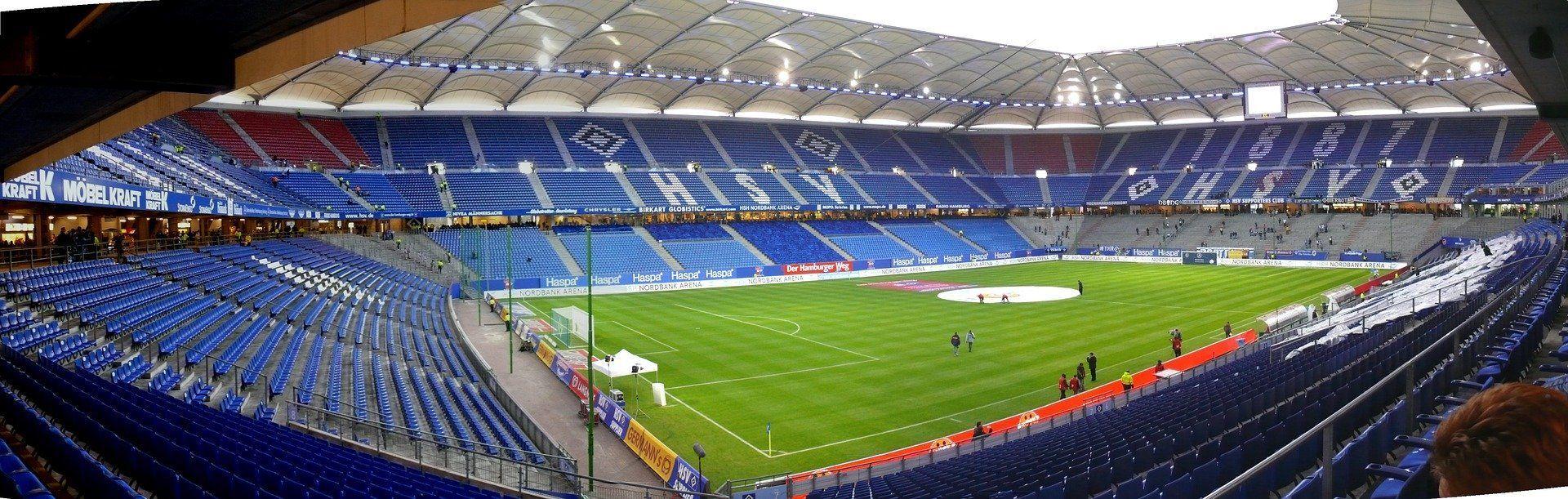 Das traditionsreiche Volksparkstadion in Hamburg