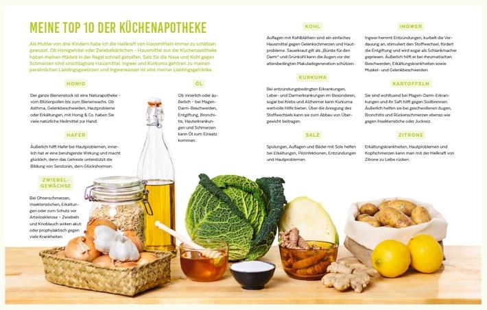 """Die Top 10 Lebensmittel gegen 100 Krankheiten aus dem Buch """"Heilen mit Lebensmitteln"""" von Dr. med. Franziska Rubin."""