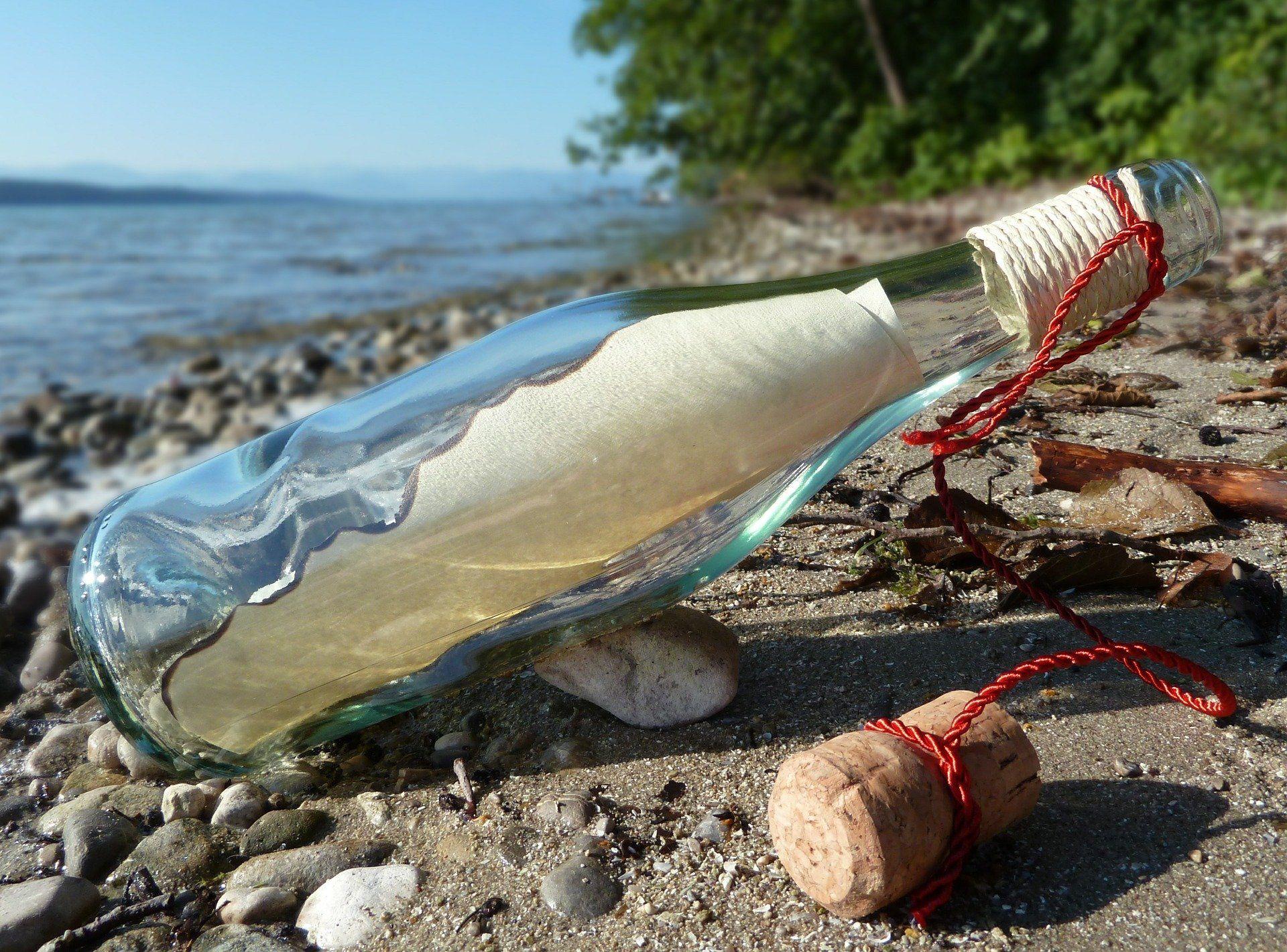 Wahrlich keine Flaschenpost
