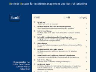 Neue juristische Fachzeitschrift aus dem Hause dfv: Der Sanierungsberater