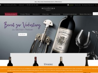 Screenshot Website Vino