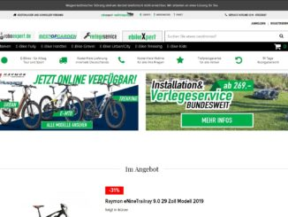 Screenshot Website e-bikes