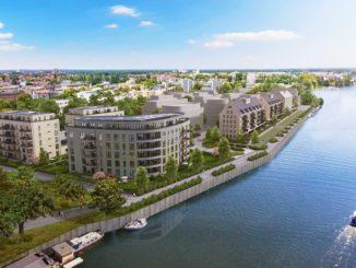 BUWOG-Neubau mit nachhaltigen Qualitäten: Das Projekt HAVELKIESEL in Berlin-Spandau. Visualisierung: BUWOG Bauträger GmbH