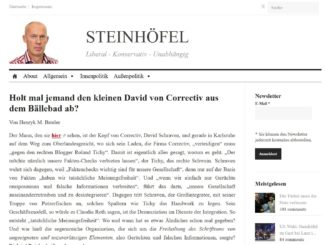 Screenshot Website Steinhöfel