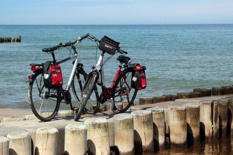 Rast am Meer während einer Ostsee-Biertour (Mecklenburger Radtour)