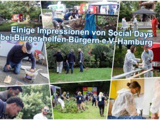 Einige Impressionen von Social Days bei Bürger helfen Bürgern e.V. Hamburg