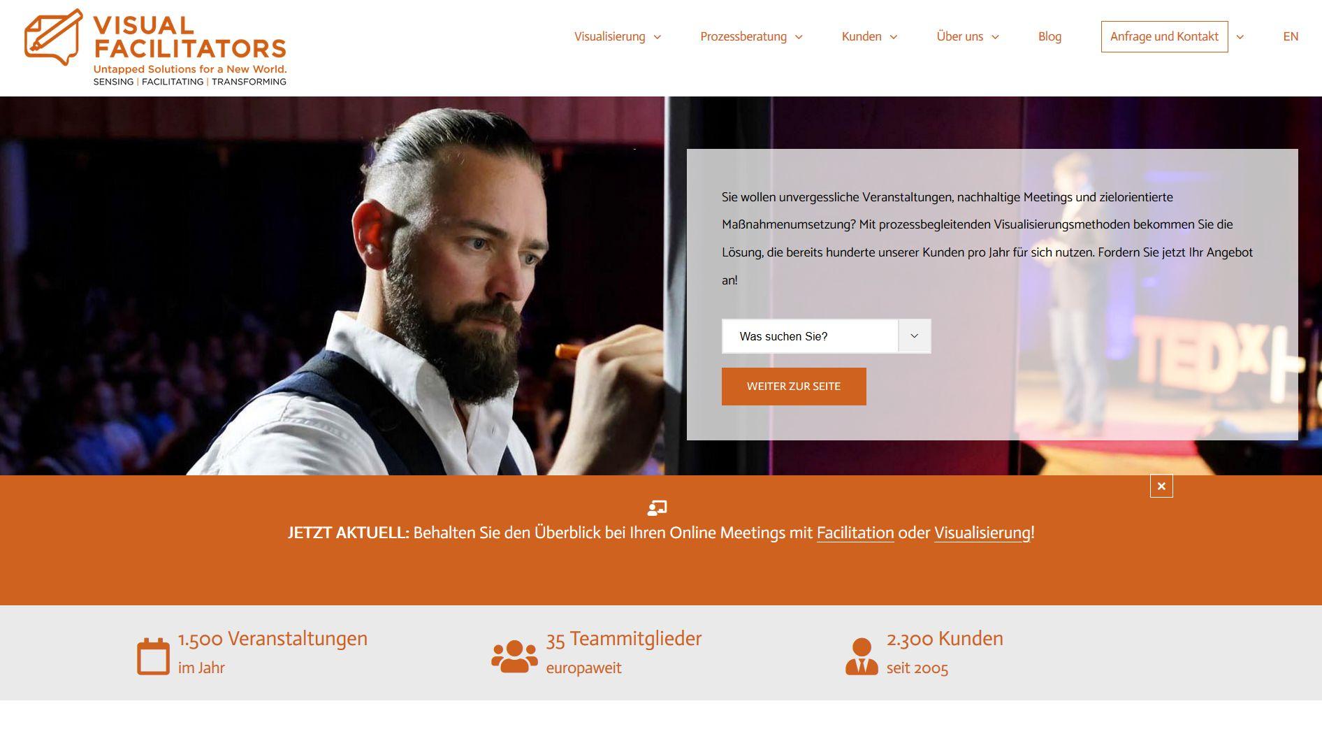 Screenshot Website  visualfacilitators.com/de/