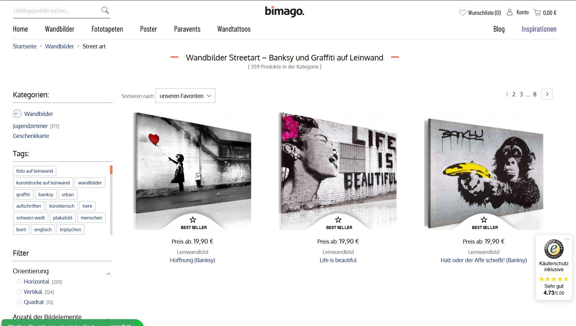 Sceenshot Website bimago