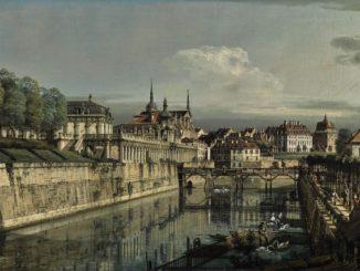 Bernardo Bellotto: Ansicht des Zwingergrabens in Dresden (1758)