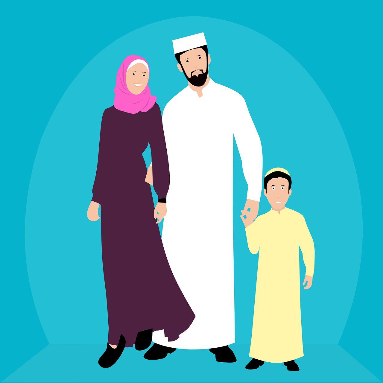 Eine muslimische Familie