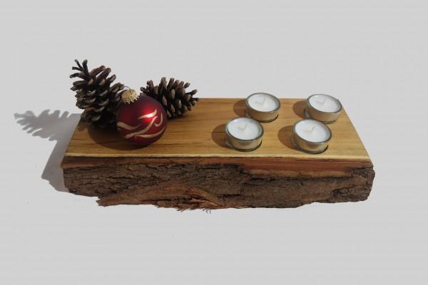 Weihnachtliche Teelichthalter als Unikate