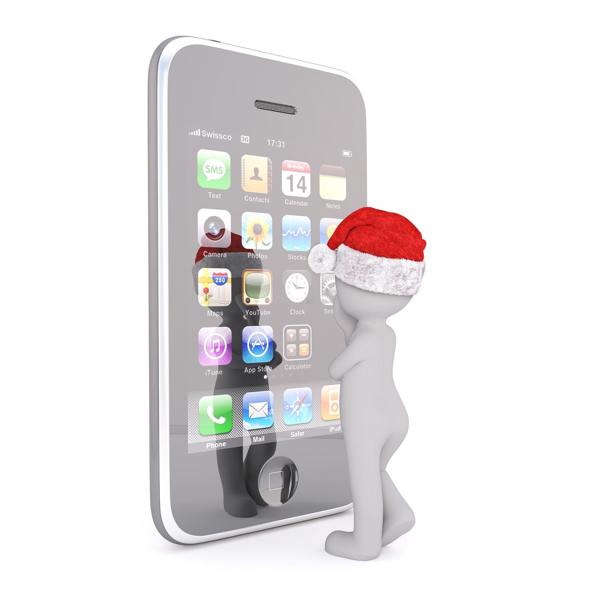 Da staunt unser Weihnachtsmännchen, was es alles an Apps gibt