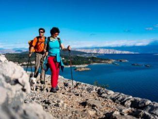 Trekking mit Blick auf die Adria