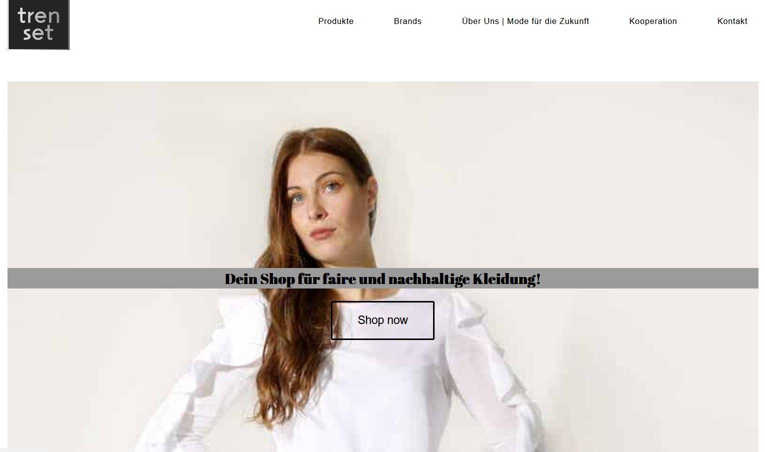 Screenshot Website tren set