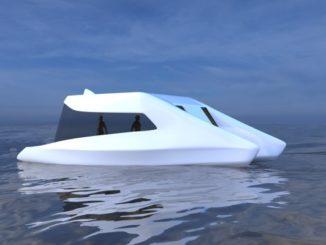 Visualisierung der emissionsfreien, autonom fahrenden Schleiboote