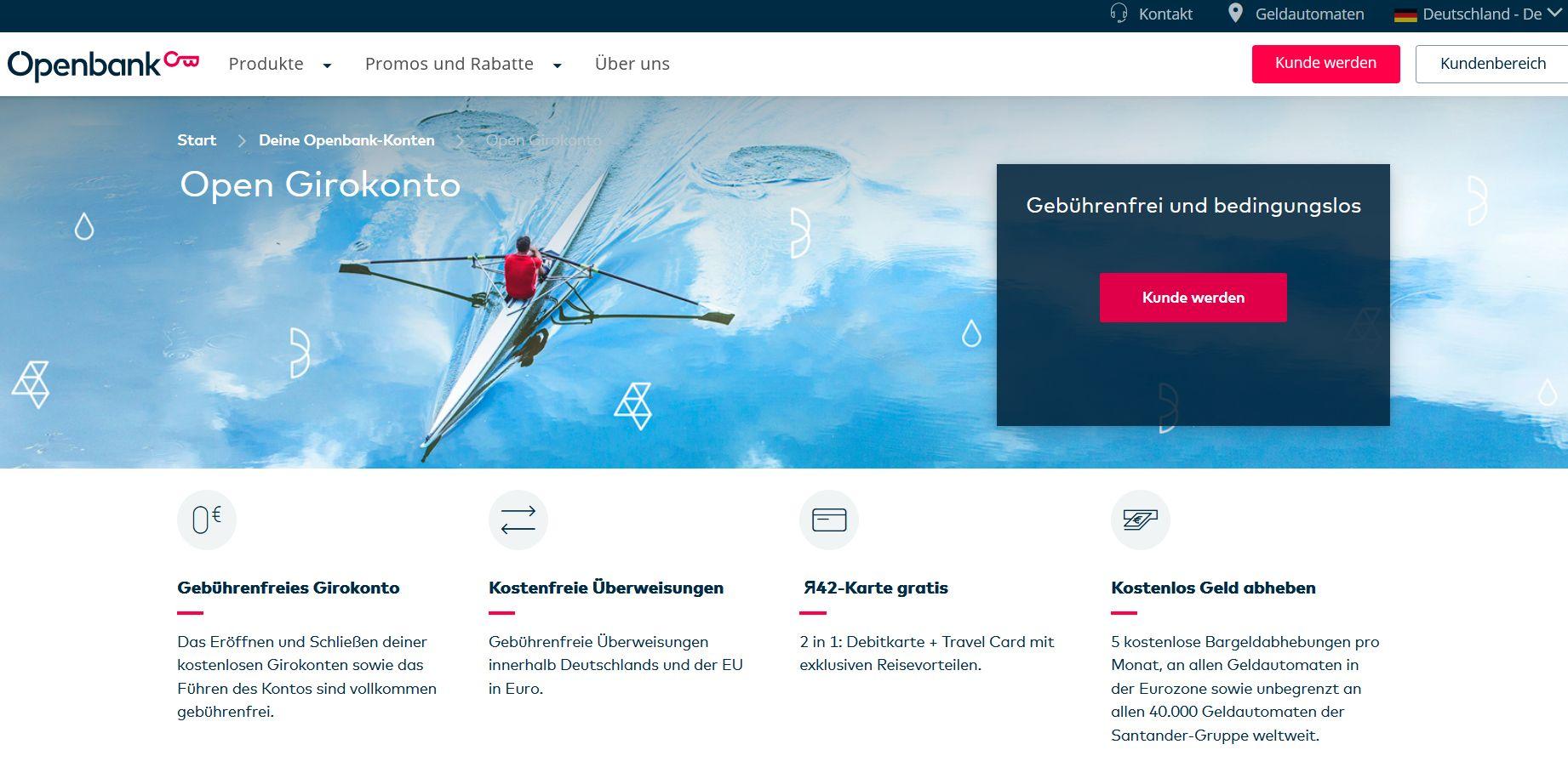 Screenshot Website openbank