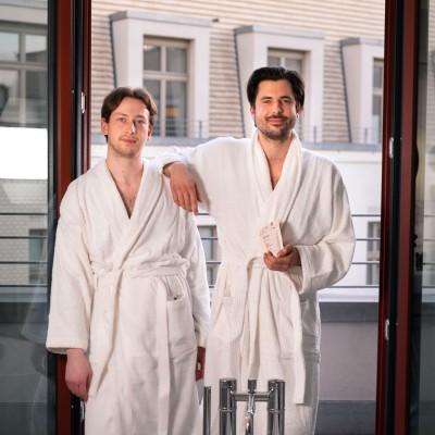 Zwei der drei Aforia Gründer (Caine Förster (links) und Ivan Peric (rechts))