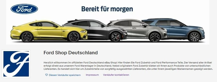Ford eröffnet eigenen eBay Shop