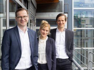 Die Geschäftsführung der Strenger Gruppe (v.l.n.r.): Julien Ahrens, Dr. Lis Hannemann-Strenger, Dr. Daniel Hannemann