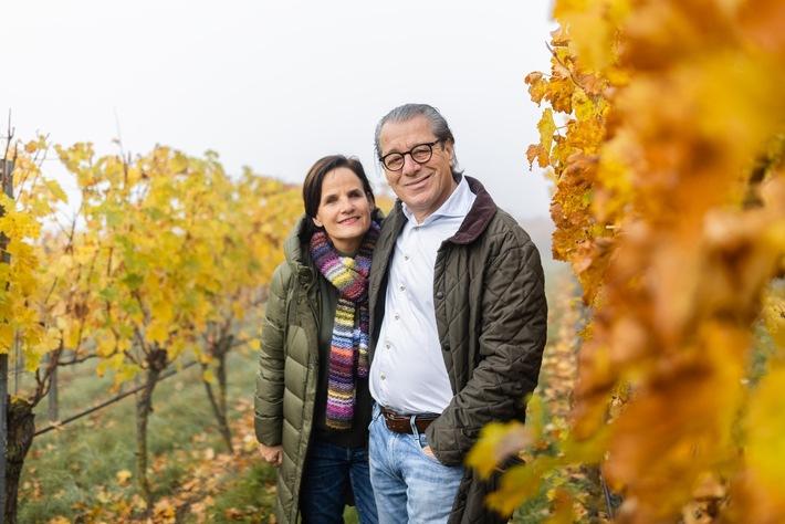 Ingrid und Karl Strenger in Ihrem Weinberg in Oberstenfeld.