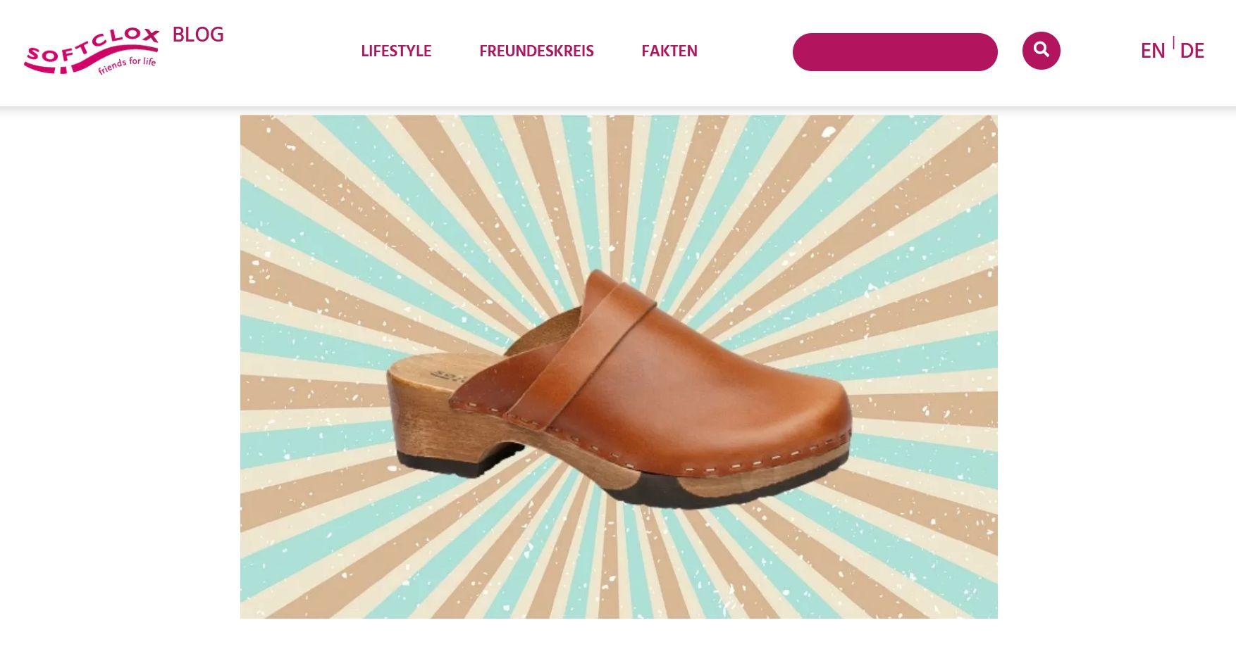 Screenshot Softclogs Website