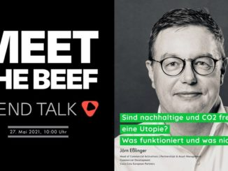 Terminhinweis MEET THE BEEF - Trend Talk, 27. Mai 2021