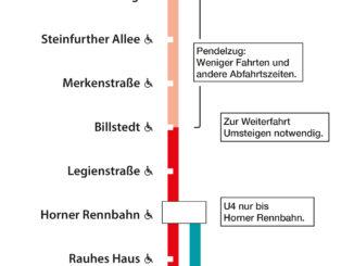 Einschränkungen im U-Bahn-Verkehr
