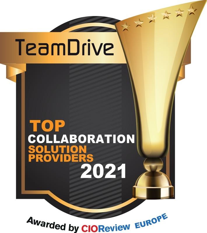 "TeamDrive zur ""Company of the Year"" gewählt"