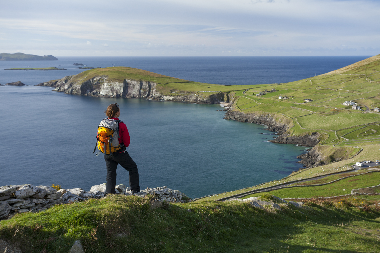 Blick vom Slea Head auf die Küste des County Kerry