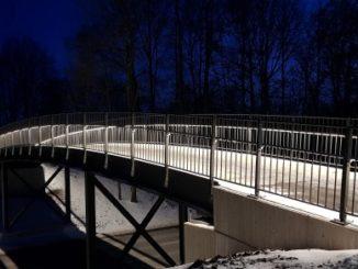 """Die neue """"Krankenhausbrücke"""" in Nördlingen"""