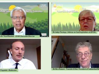 """Der Rat der Palmöl produzierenden Länder (CPOPC) veranstaltete das Webinar """"Palmölfrei Etikette: Irreführung des EU-Verbrauchers"""", um das Bewusstsein für die gängige und irreführende Praxis der Verwendung von """"Palmölfrei"""" Etiketten auf dem EU-Markt zu schärfen, die dem Ruf von Palmöl schadet, und enthielt Forderungen nach konstruktiveren und informativeren Lösungen. Die Diskussionsteilnehmer waren sich einig, dass ein Boykott von Palmöl keine Lösung ist, sondern dass es darum geht, das Gesamtbild zu verstehen und nachhaltiges Palmöl zu fördern. Der Exekutivdirektor des CPOPC, Tan Sri Datuk Dr. Yusof Basiron, sowie Nachhaltigkeitsexperten, Frau Imkje Tiesinga, Beraterin für Lebensmittelrecht bei der European Palm Oil Alliance (EPOA), und Herr Nico Roozen, Gründer und Ehrenpräsident des Solidaridad Network, betonten die Notwendigkeit besserer Vorschriften auf EU-Ebene, um weitere Verwirrung zu vermeiden und die Information der Verbraucher zu verbessern. In seiner Eröffnungsrede betonte Tan Sri Datuk Dr. Yusof Basiron: """"Die seit langem bestehende negative Stimmung auf den EU-Märkten, wie z.B. der Ausstieg aus der Verwendung von Palmöl für Biokraftstoffe durch die RED II, erfordert konsequente Anstrengungen, um ein gemeinsames Verständnis zu schaffen, denn wir stehen vor der globalen Herausforderung eines steigenden Verbrauchs von Pflanzenölen bei gleichzeitig prognostizierten Versorgungsengpässen in der Zukunft."""" Professor Pietro Paganini (Competere.eu), der die Veranstaltung moderierte, erklärte: """"Die Kennzeichnung 'Frei von' kann täuschen, wie im Fall von Palmöl. Das Fehlen bringt weder für die Verbraucher noch für die Umwelt eine Verbesserung."""" Die Diskussionsteilnehmer Imkje Tiesinga, Beraterin für Lebensmittelrecht bei der Europäischen Palmöl-Allianz (EPOA), und Nico Roozen, Gründer und Ehrenpräsident des Solidaridad Network, betonten die Bedeutung von nachhaltigem Palmöl für Kleinbauern und die Erfüllung der UN-Ziele für nachhaltige Entwicklung sowie die schwerwi"""