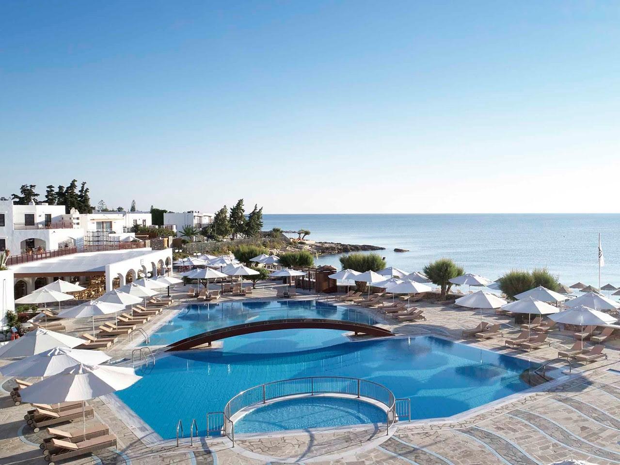 Pool auf Kreta